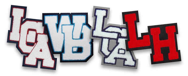 single felt varsity letter monograms