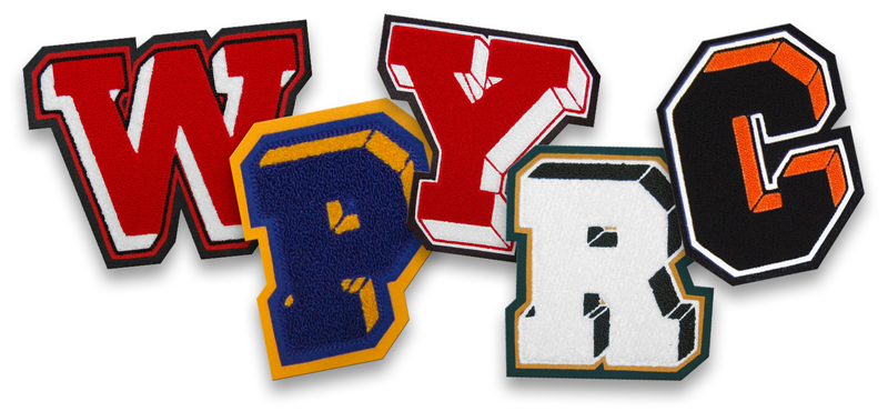 DF Dimensional Varsity Letter Prices Collage