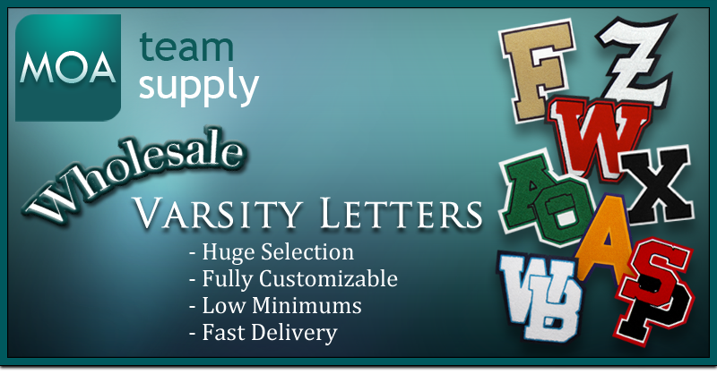 MOA Team Supply Wholesale Varsity Letters