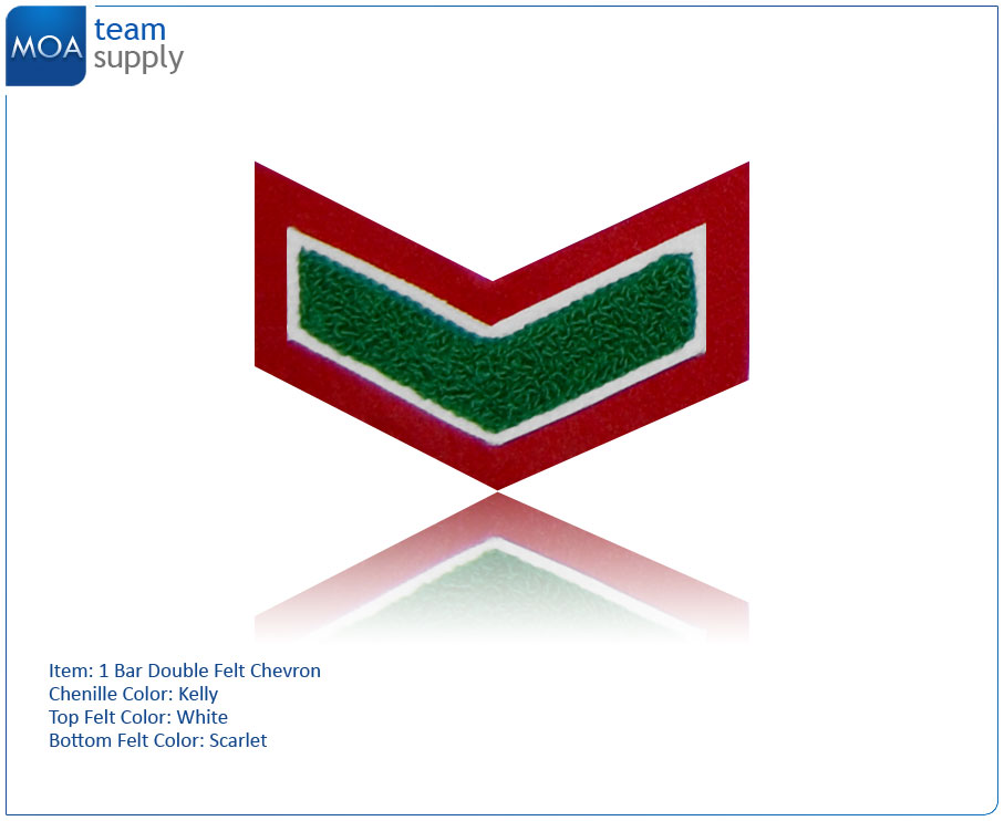 1 Bar Double Felt Chevron