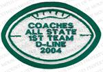 Embroidered Football Patch for Letterman Jacket