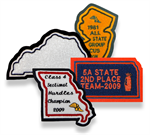 3 Inch Custom Chenille State Patch with Embroidery